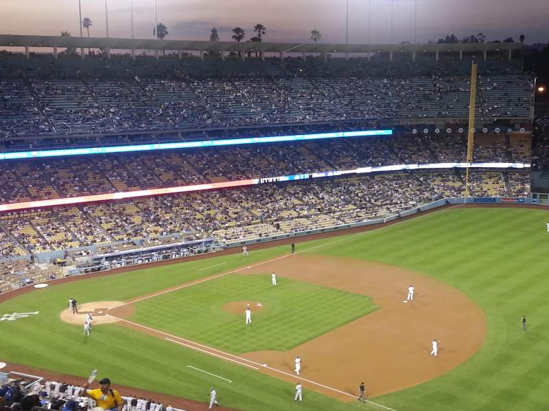 Seating view for Dodger Stadium Section 30RS Row AA Seat 5