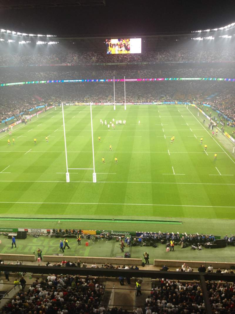 Seating view for Twickenham Stadium Section U19 Row B Seat 101
