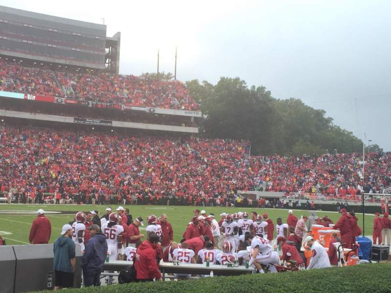 Seating view for Sanford Stadium Section 108 Row 2 Seat 23