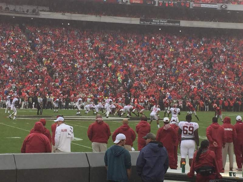 Seating view for Sanford Stadium Section 108 Row 3 Seat 23