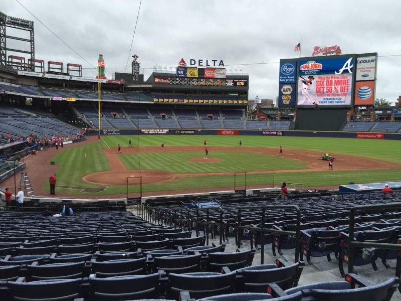Seating view for Turner Field Section 105L Row 27 Seat 3