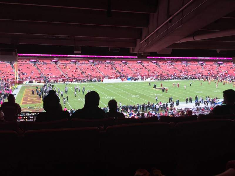 Seating view for FedEx Field Section 225 Row 16 Seat 19