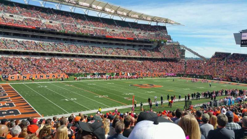 Seating view for Paul Brown Stadium Section 116 Row 32 Seat 12