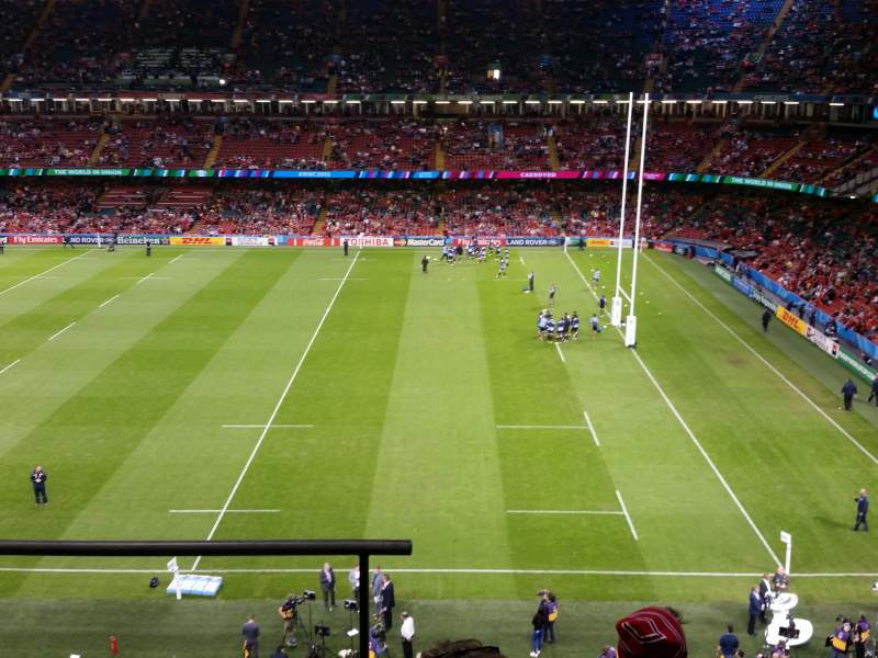 Seating view for Principality Stadium Section U6 Row 4 Seat 1/2