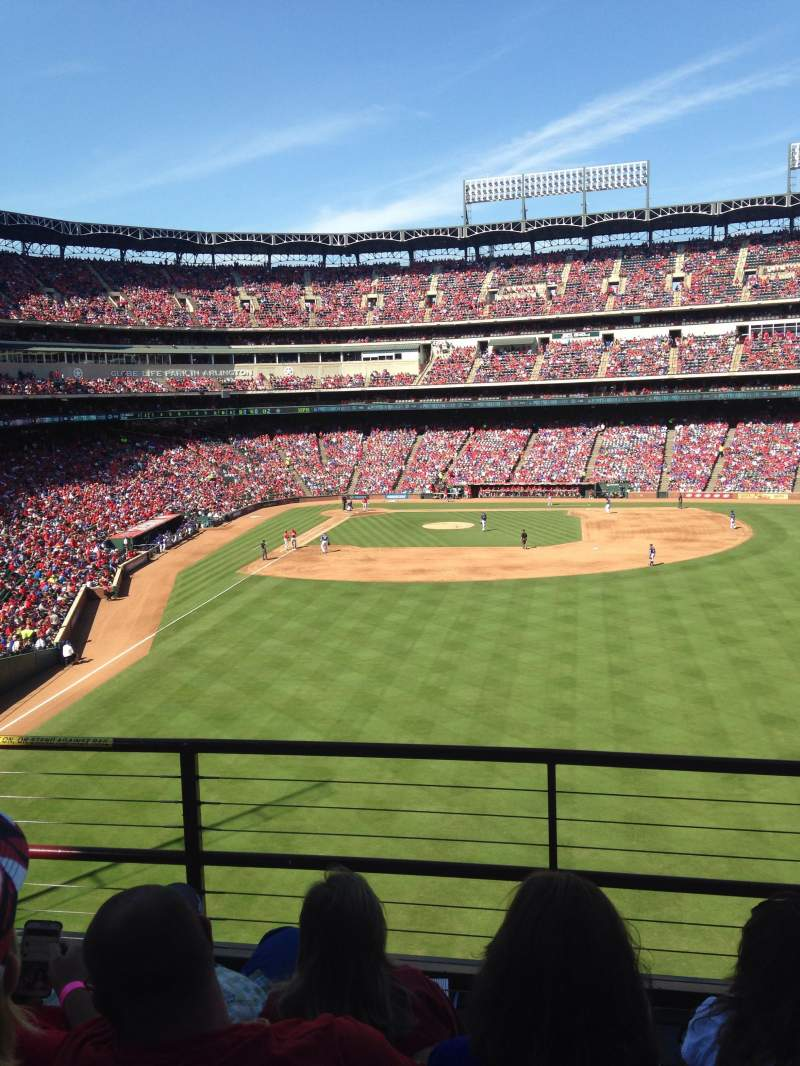 Seating view for Globe Life Park in Arlington Section 248 Row 4 Seat 3