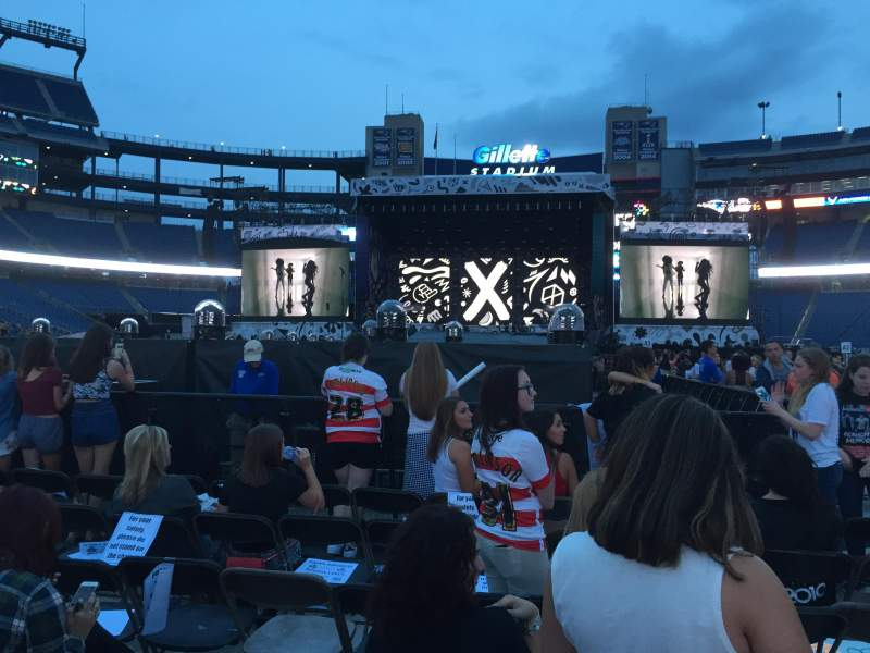Seating view for Gillette Stadium Section B3 Row 36 Seat 13