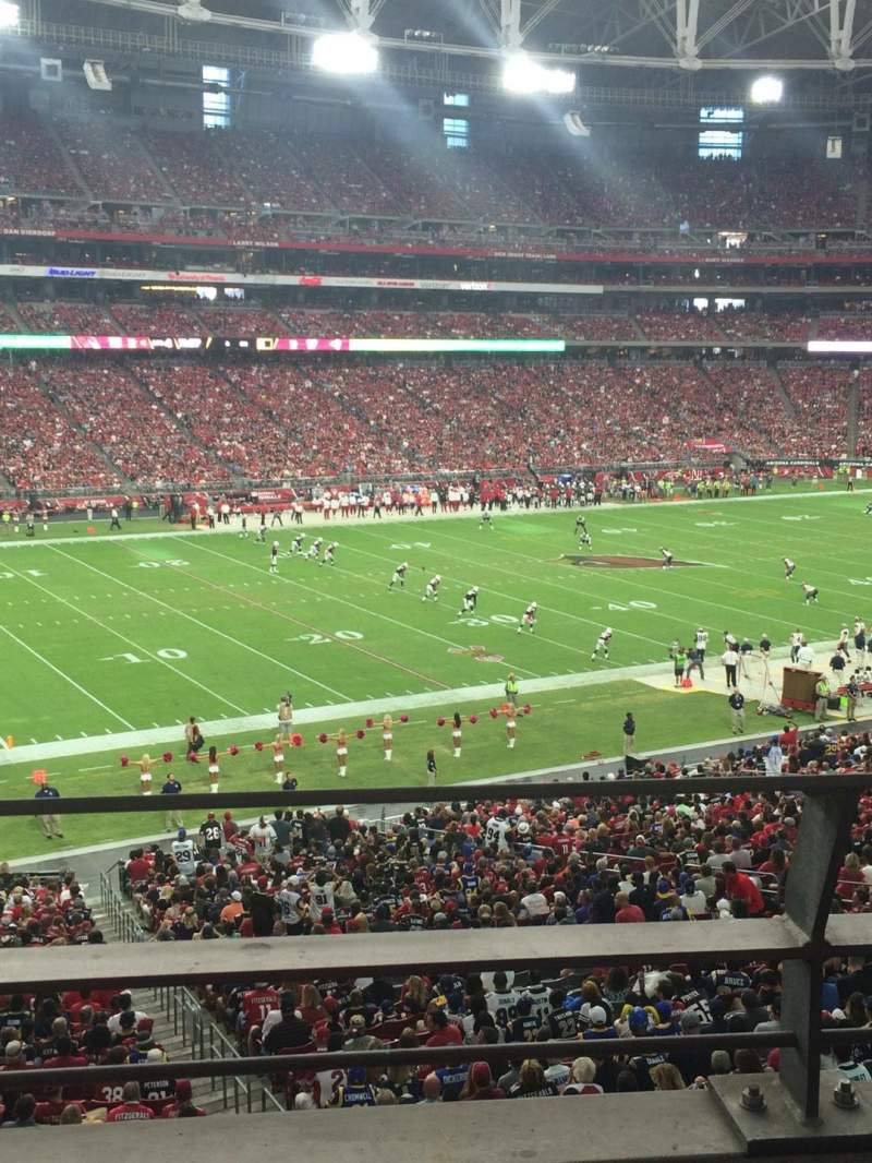 Seating view for University of Phoenix Stadium Section 243 Row 2 Seat 12