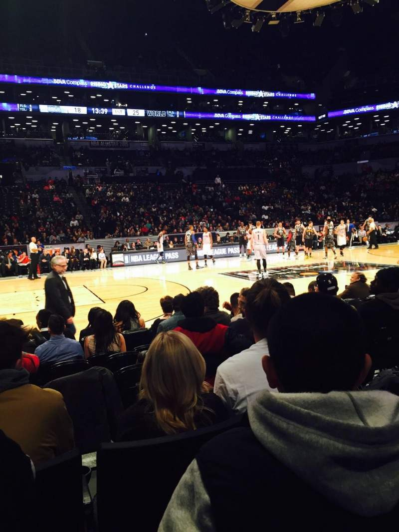 Seating view for Barclays Center Section 25 Row 3 Seat 7