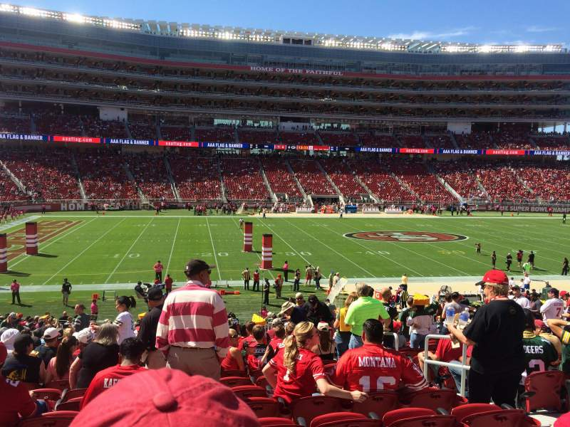 Seating view for Levi's Stadium Section 119 Row 26 Seat 4
