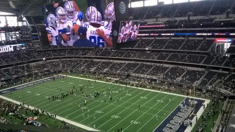 Seating view for AT&T Stadium Section 437 Row 1 Seat 5