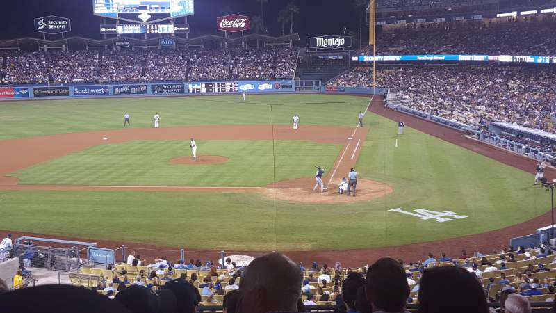 Seating view for Dodger Stadium Section 117lg Row J Seat 2