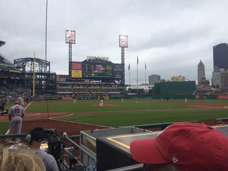 Seating view for PNC Park Section 13 Row G Seat 10