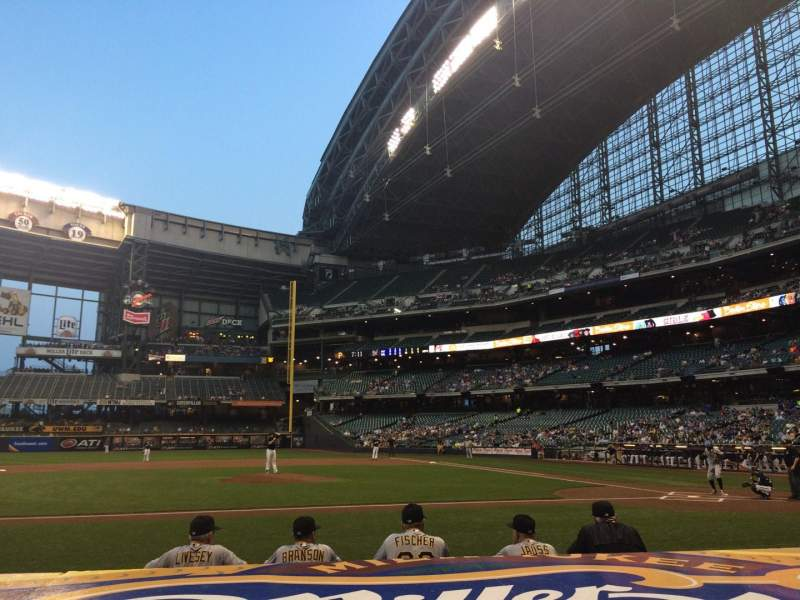 Seating view for Miller Park Section 122 Row 5 Seat 1