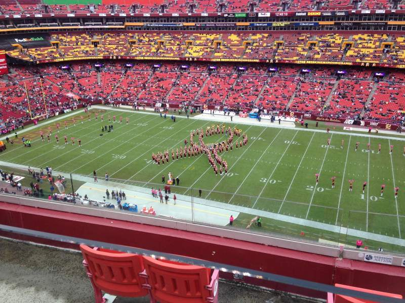 Seating view for FedEx Field Section 452 Row 4 Seat 13