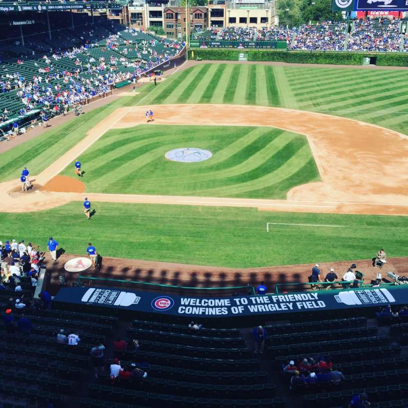 Seating view for Wrigley Field Section 429 Row 1 Seat 1