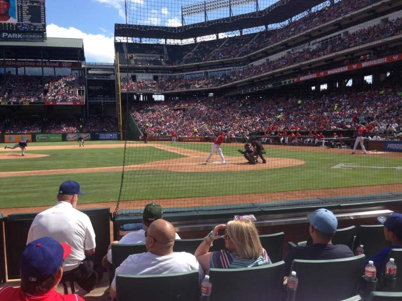 Seating view for Globe Life Park in Arlington Section 21 Row 4 Seat 5