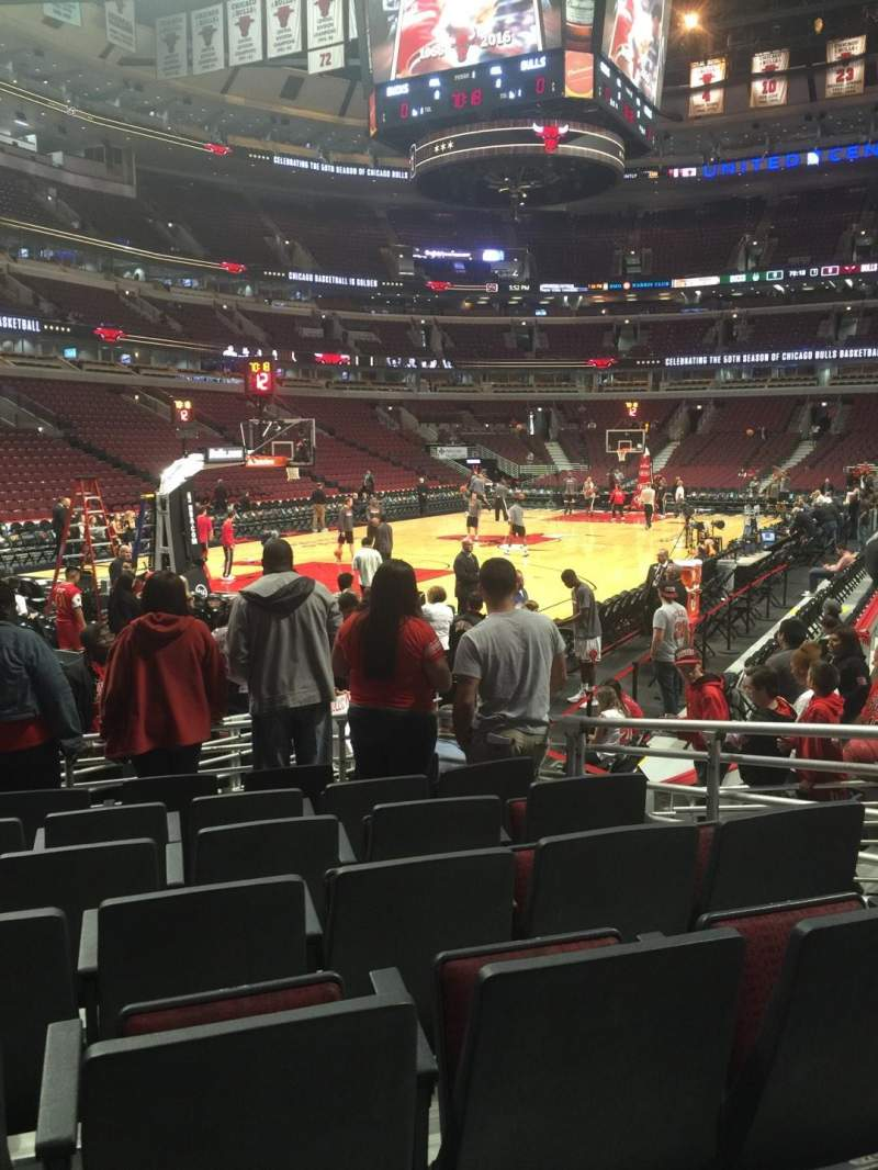 Seating view for United Center Section 104 Row 7 Seat 7