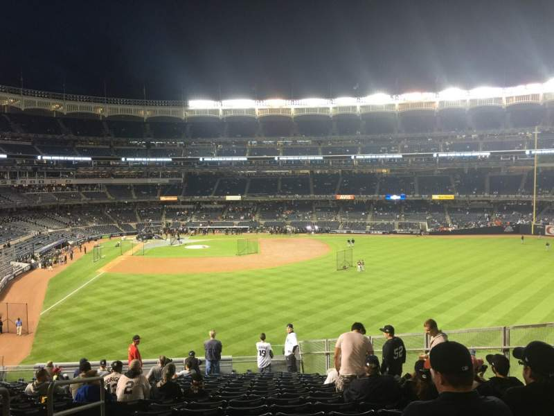 Seating view for Yankee Stadium Section 205 Row 18 Seat 17