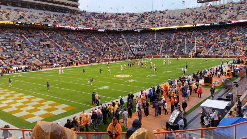Seating view for Neyland Stadium Section X3 Row 13 Seat 26