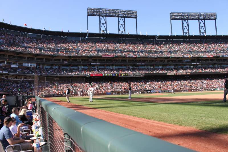 Seating view for AT&T Park Section LB105 Row A Seat 20