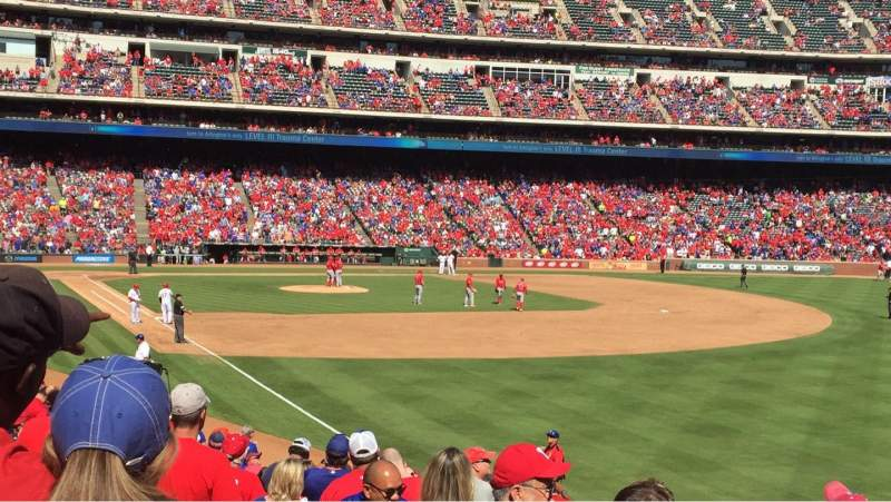 Seating view for Globe Life Park in Arlington Section 40 Row 20 Seat 6