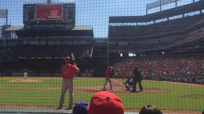 Seating view for Globe Life Park in Arlington Section 22 Row C Seat 1