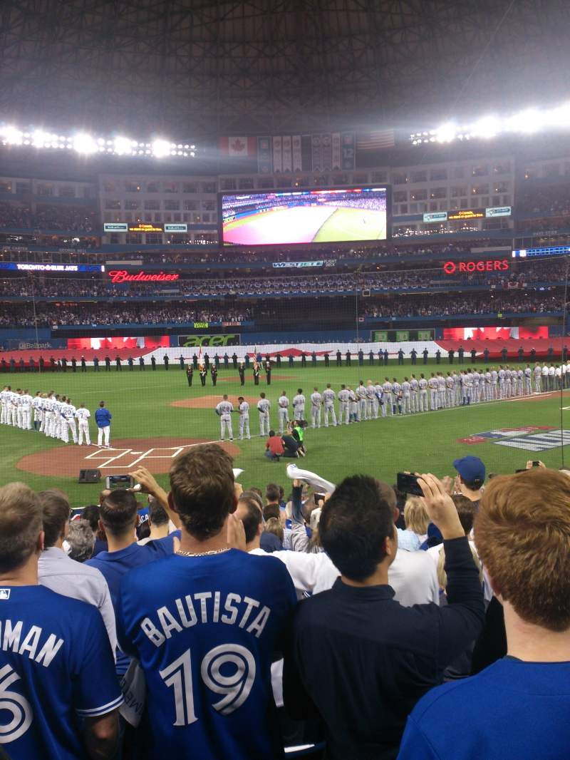 Seating view for Rogers Centre Section 120L Row 17 Seat 107