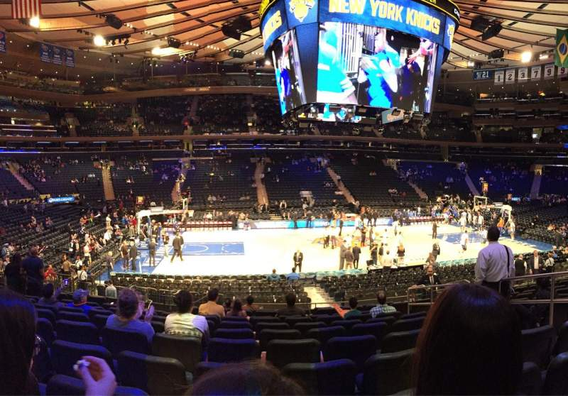Seating view for Madison Square Garden Section 116 Row 14 Seat 15
