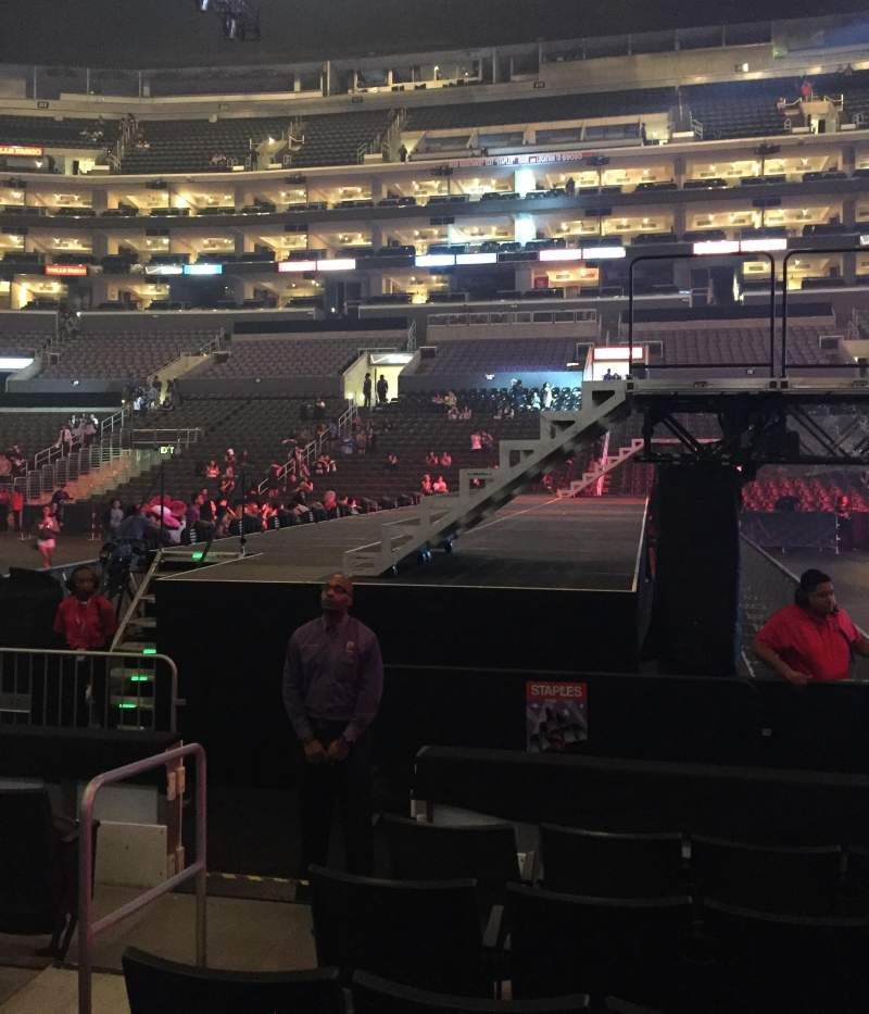 Seating view for Staples Center Section 119 Row 6 Seat 18