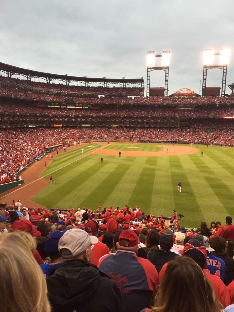 Seating view for Busch Stadium Section 111 Row 33 Seat 22