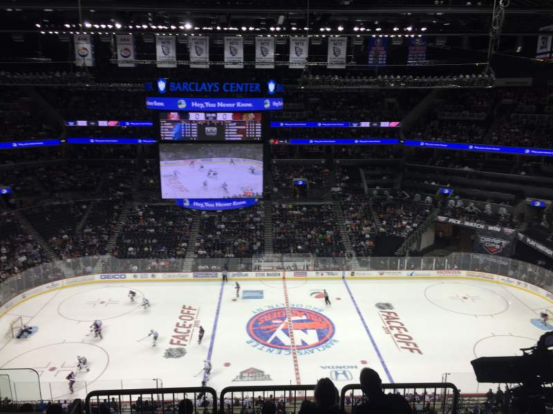 Seating view for Barclays Center Section 207 Row 7 Seat 17