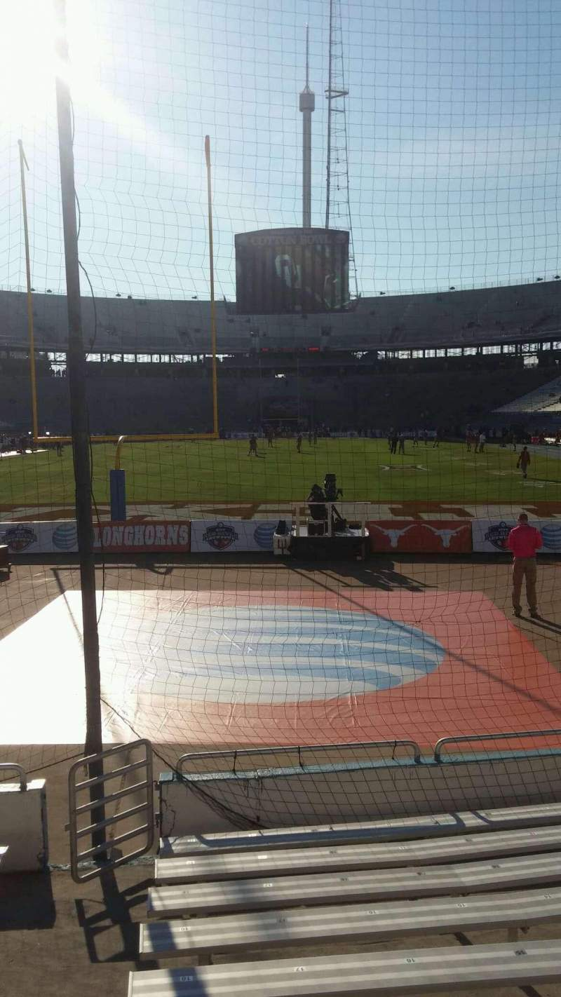 Seating view for Cotton Bowl Section 14 Row 11 Seat 21