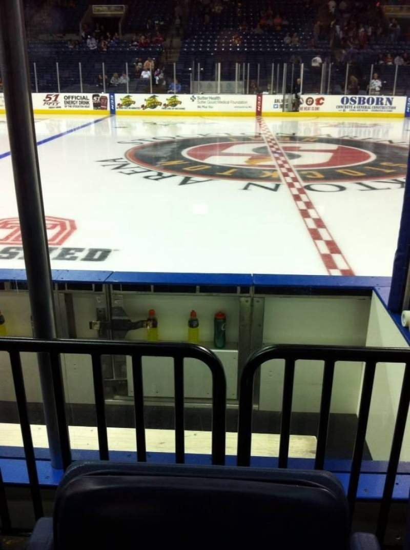 Seating view for Stockton Arena Section 101 Row 4 Seat 12
