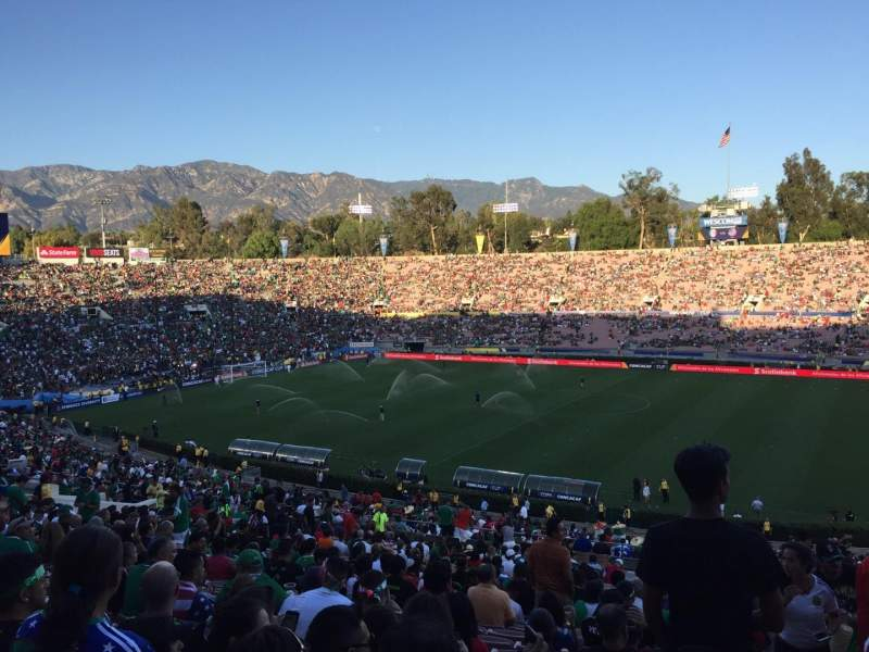Seating view for Rose Bowl Section 20L Row 60 Seat 1