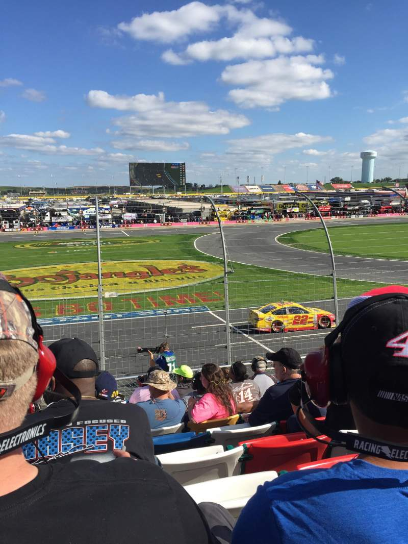 Seating view for Charlotte Motor Speedway Section Chrysler Row 12 Seat 35