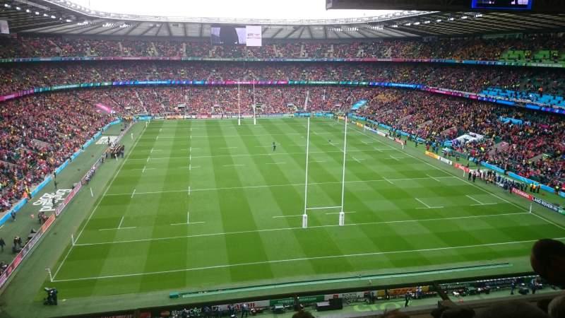 Seating view for Twickenham Stadium Section U21 Row E Seat 167