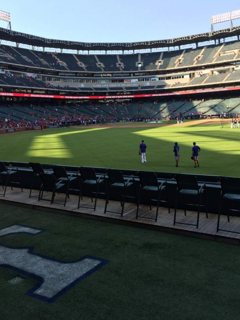 Seating view for Globe Life Park in Arlington Section 49 Row 6 Seat 13