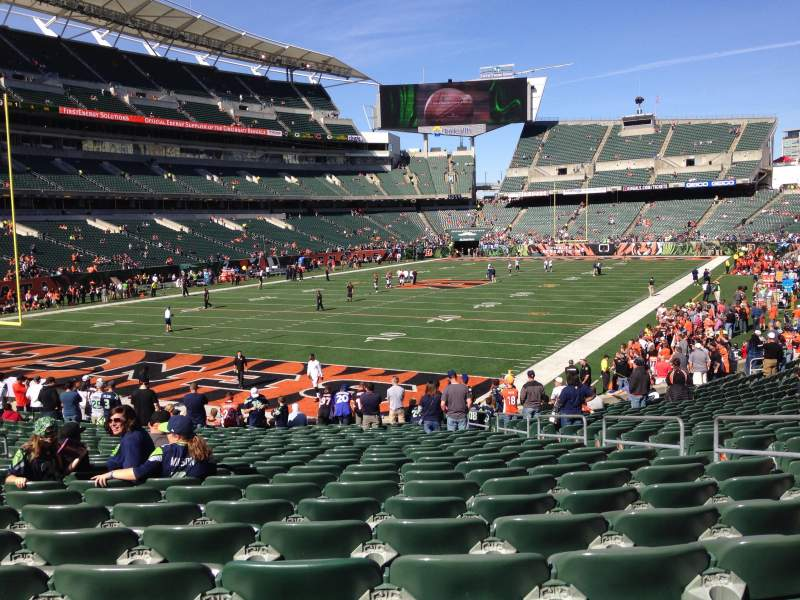 Seating view for Paul Brown Stadium Section 150 Row 23 Seat 7