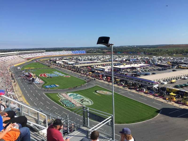 Seating view for Charlotte Motor Speedway Section Ford E Row 51 Seat 30