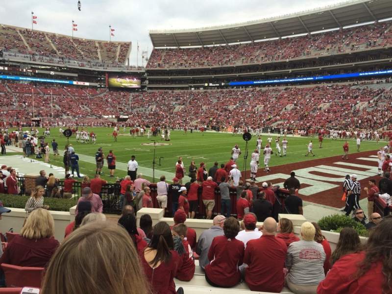 Seating view for Bryant-Denny Stadium Section A Row 11 Seat 4