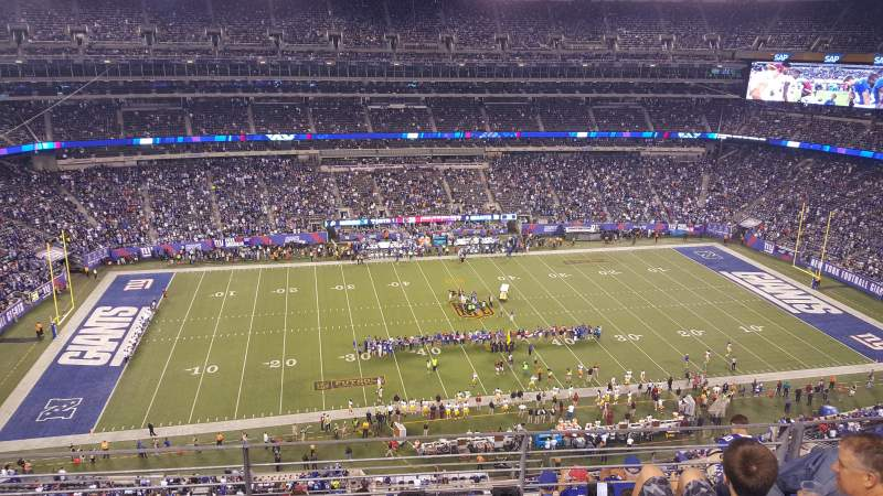 Seating view for MetLife Stadium Section 340 Row 7 Seat 15