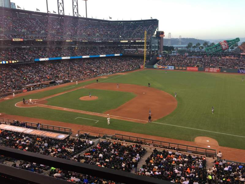 Seating view for AT&T Park Section Suite 6 Row A Seat 1