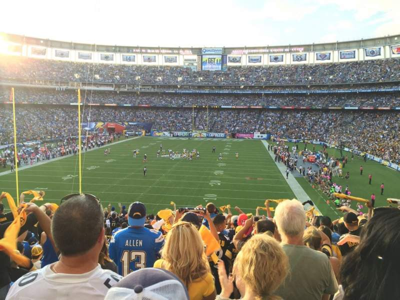 Seating view for Qualcomm Stadium Section P54 Row 21 Seat 2