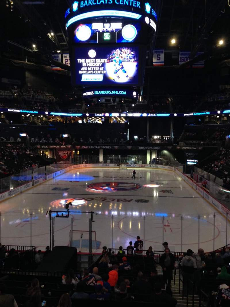 Seating view for Barclays Center Section 16 Row 18 Seat 7