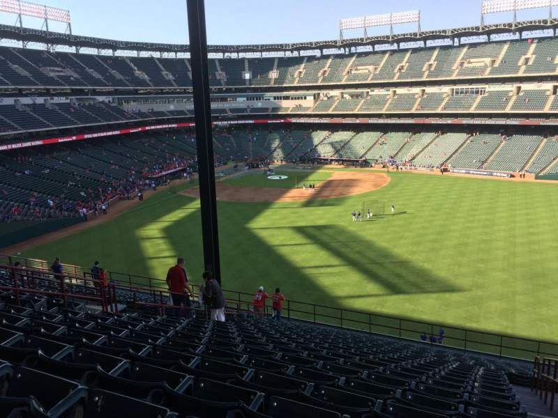 Seating view for Globe Life Park in Arlington Section 251 Row 22