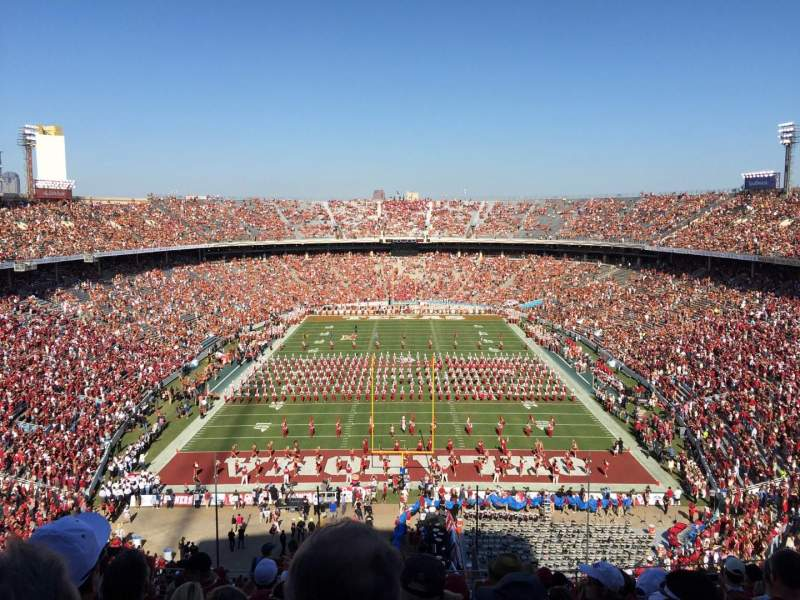 Seating view for Cotton Bowl Section 138 Row 17 Seat 17