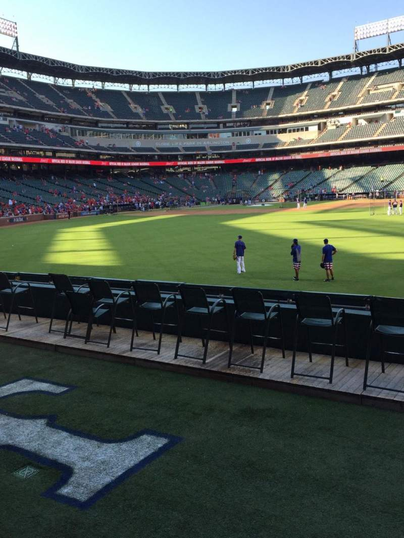 Seating view for Globe Life Park in Arlington Section 48 Row 6 Seat 12