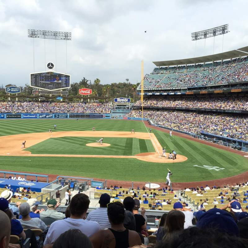 Seating view for Dodger Stadium Section 121LG Row H Seat 5