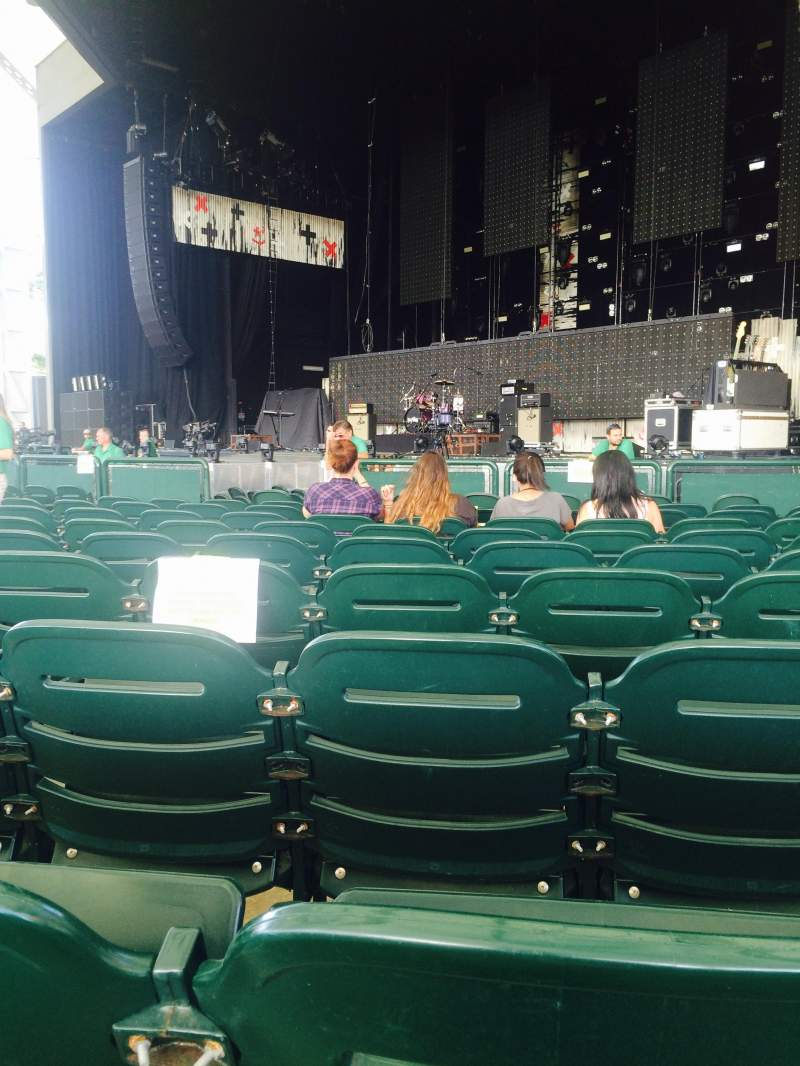 Seating view for Cynthia Woods Mitchell Pavilion Section 103 Row L Seat 14