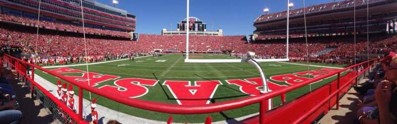 Seating view for Memorial Stadium Section 16 Row 1 Seat 14